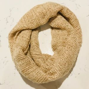 Gold Sparkle Infinity Scarf